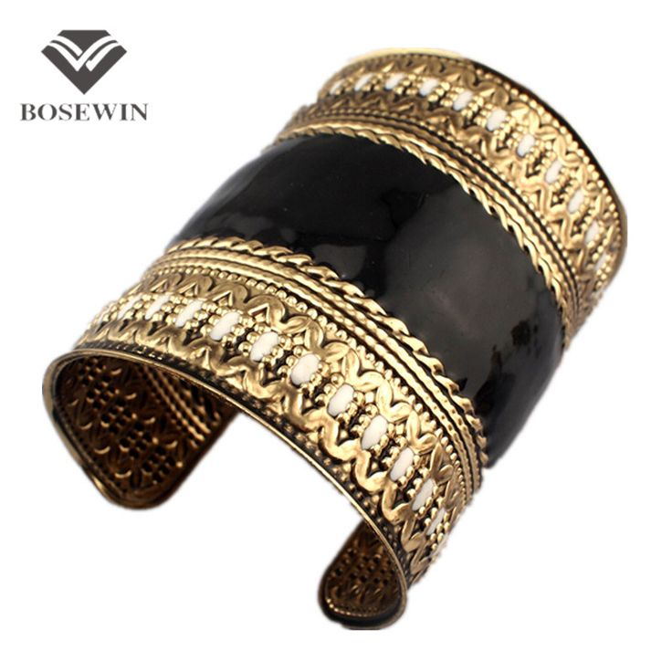 Indian style Cuff Bangles with oil-spot glaze , Vintage Cuff Bracelet for Women Statement Jewelry Accessories BL018