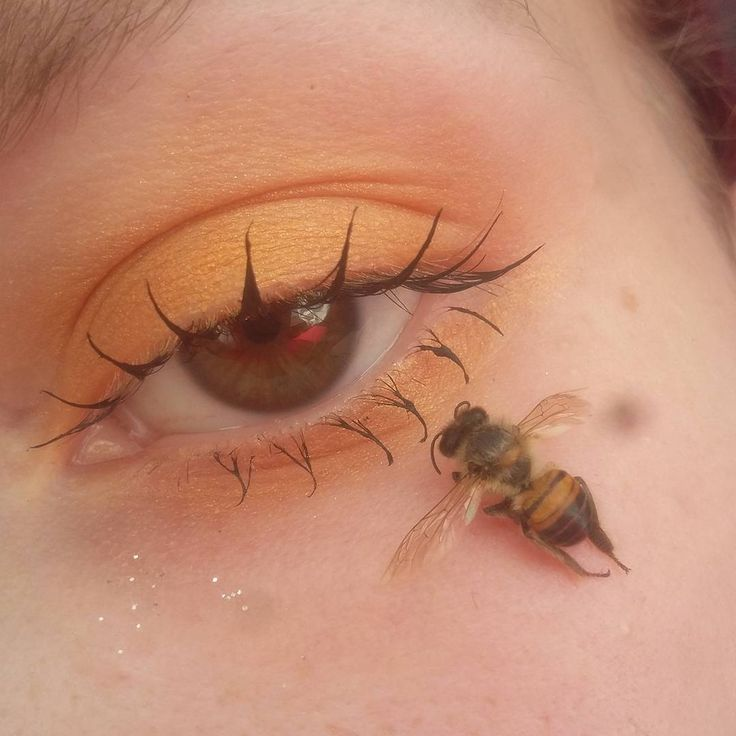 i know this is For The Aesthetic™ but that bee is 100% dead right? like she literally has a dead bee on her face