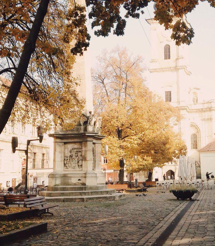 Museum Square in Cluj-Napoca, Romania