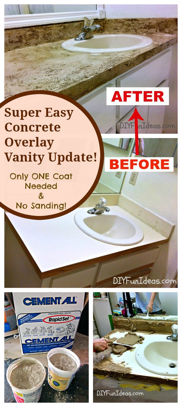 Concrete Overlay Countertops Diy 482 Best Counters And Cabinets Images On Pinterest Concrete
