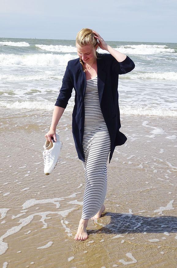 Outfit: Gestreepte Maxi Jurk