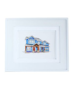 Whether you recently purchased some new digs or are moving out of a house that you loved, commission a custom watercolor piece as a tiny memento.