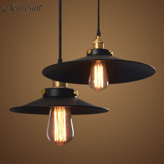 Amerikaanse land industriële magazijn retro Edison pub restaurant kroonluchter verlichting lamp zwarte jurk