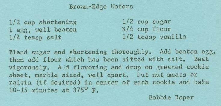 Nabisco Brown Edge Wafer Cookies Brown Edge Wafers