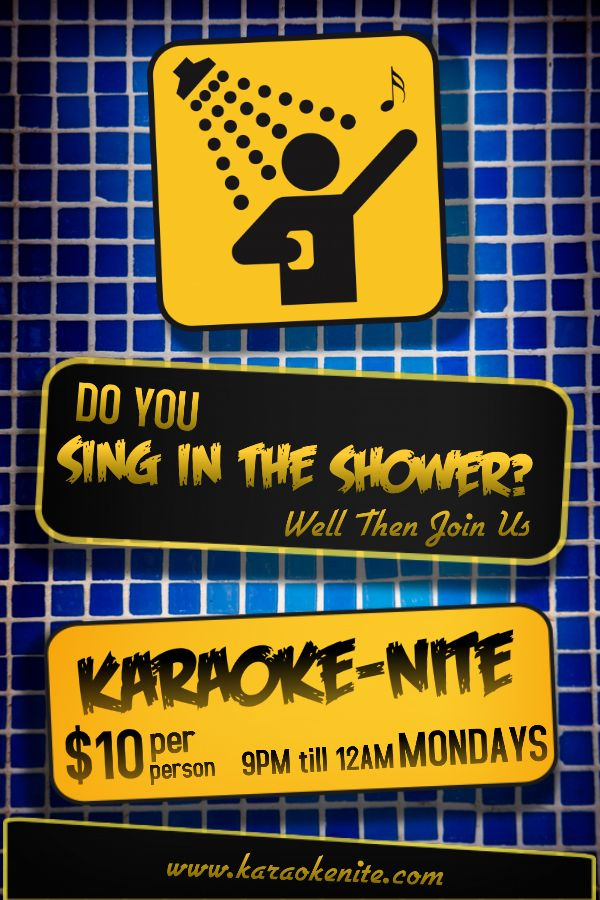 30 best karaoke poster templates images on pinterest | online, Powerpoint templates