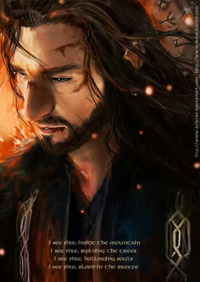 Young Prince Thorin ~ I see fire by brilcrist on deviantart