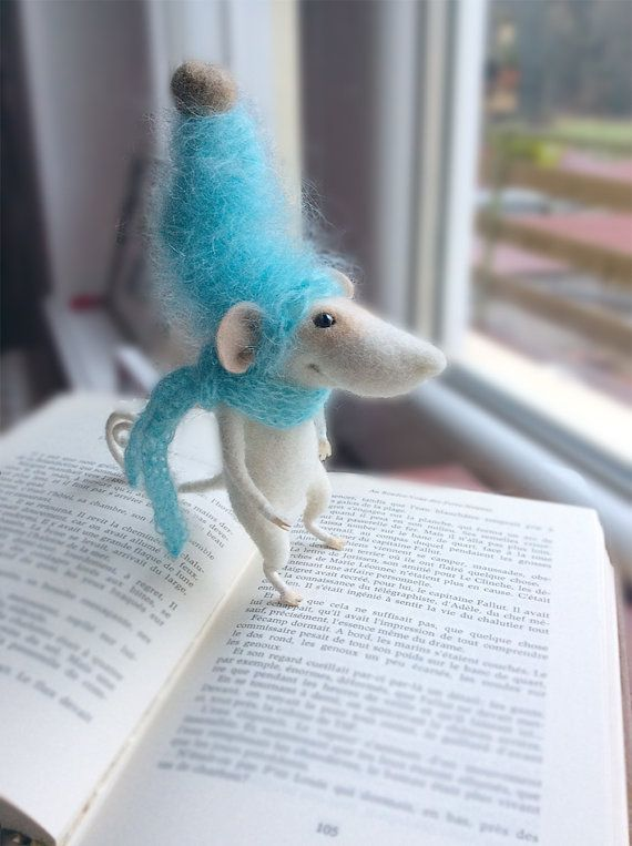 Mouse needle felted mouse toy felted mouse stuffed by TenderMouse
