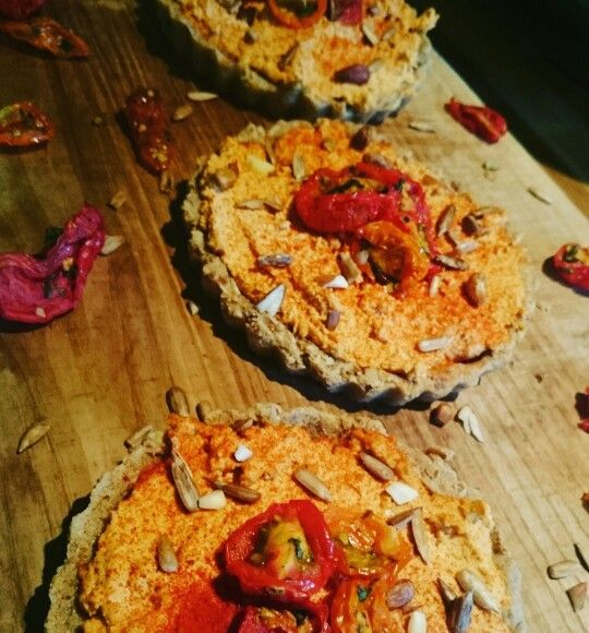 #raw #vegan cheese and tomato tarts
