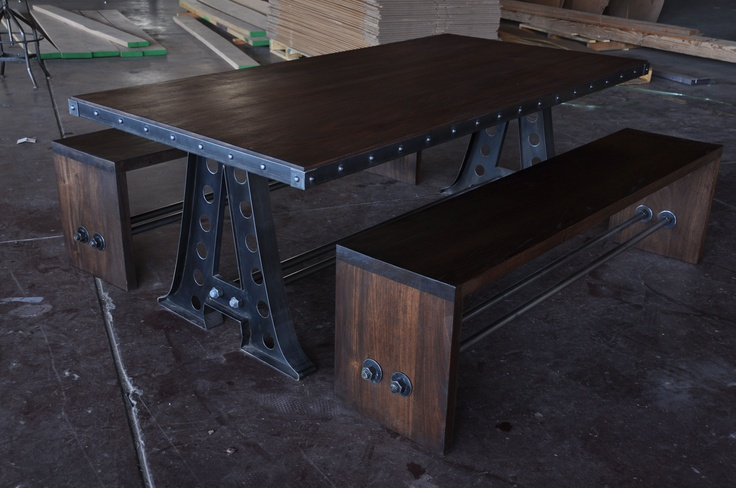 A Frame with Mahogany Benches