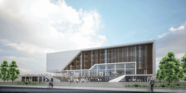 Canakkale municipal building competition entry by cihan for Edificios escolares arquitectura