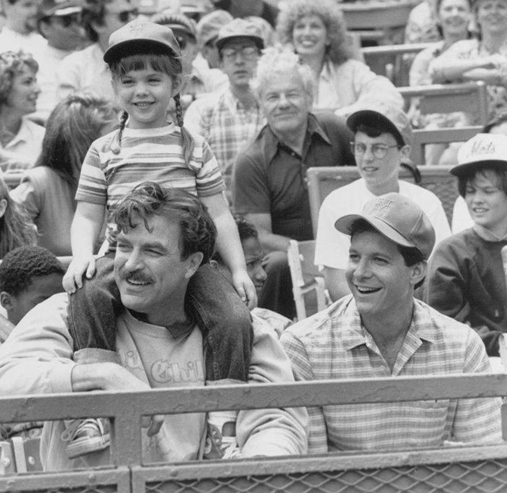 1990 Steve Guttenberg, Tom Selleck, Ted Danson, and Robin Weisman in 3 Men and a Little Lady