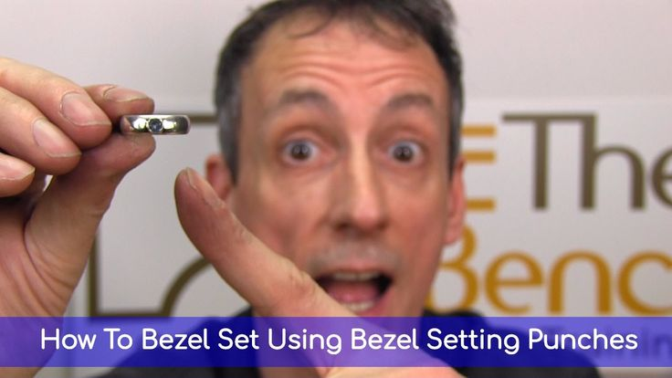 How To Bezel Set Using Bezel Setting Punches - Making Your Own Silver Bezel Set Gemstone Ring - YouTube