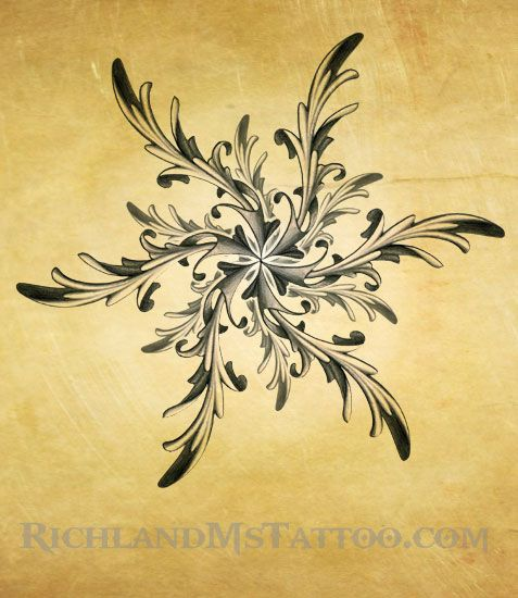 Ornate Star Tattoo Design by Justin by northgeorgiatattoos on deviantART