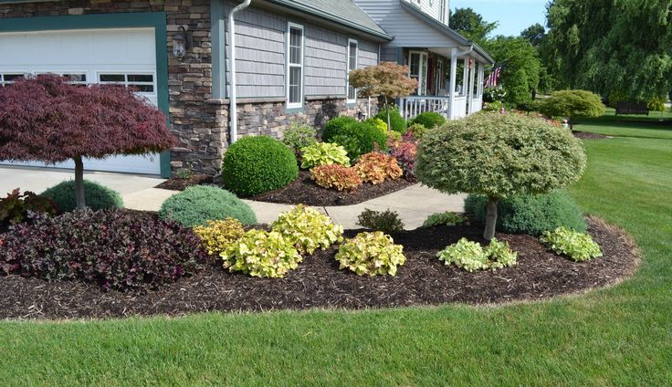 Backyard landscaping ideas for midwest colorful for Colorful front yard garden plans