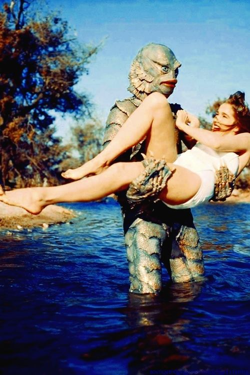 Julie Adams in the clutches of THE CREATURE!