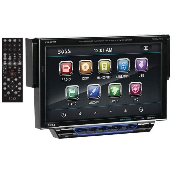 "BOSS AUDIO BV8974B 7"" Single-DIN In-Dash Drop-down DVD/MP3/CD & AM/FM Receiver with Bluetooth(R)"