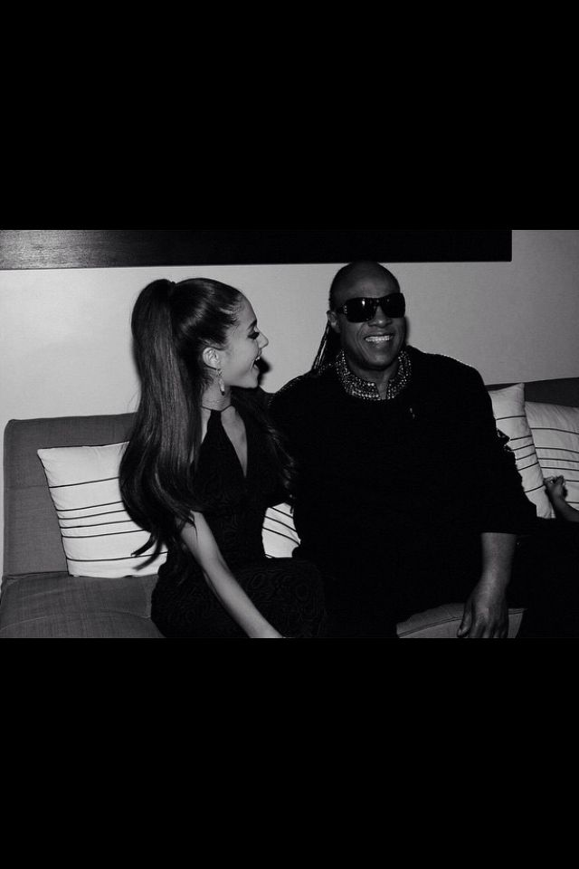 AG - with Stevie Wonder backstage at the Songs In the Key of Life Special for Stevie Wonder. The Special airs Saturday.