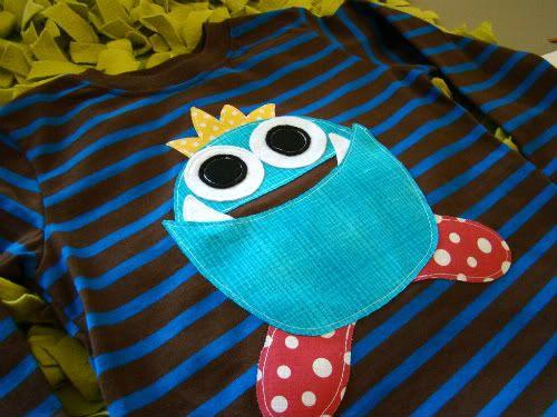 Little boy monster halloween shirt