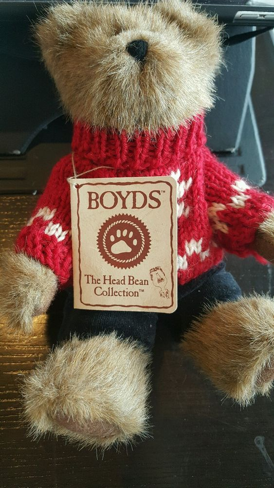 "BOYDS BEARS Head Bean Collection 'Matthew ' - 8"" Collector Bear - NEW with Tag #Boyds #Christmas"