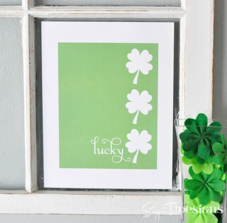 St. Patrick's Day Lucky Shamrock {Free Printable}
