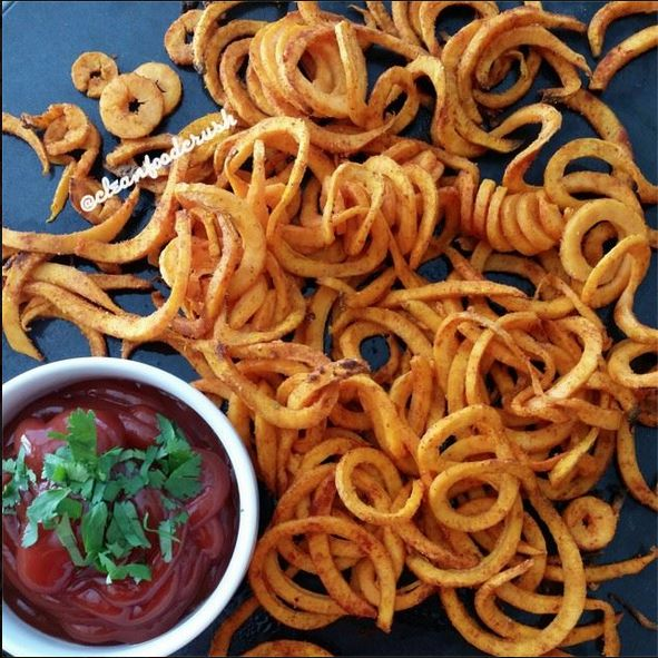 Curly Sweet Potato Fries Recipe - Copycat Arby's Using the Paderno Spiralizer
