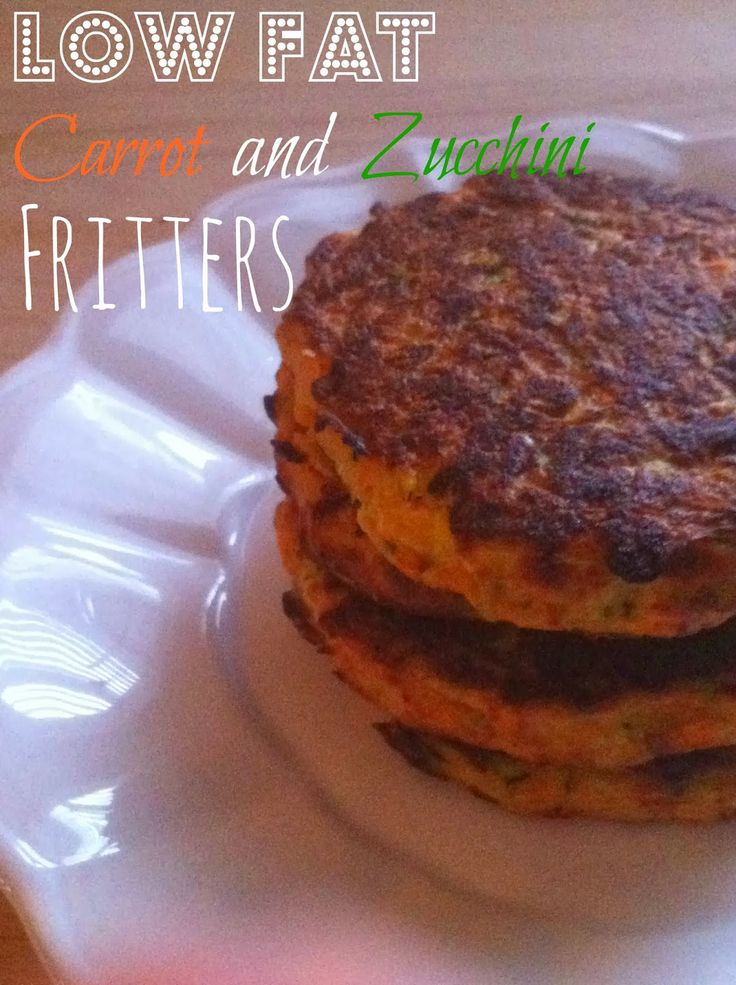 Chaos and the Kitchen: Low Fat Carrot and Zucchini Fritters