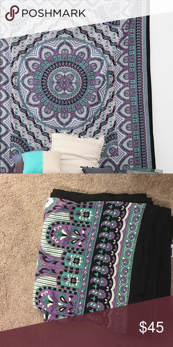 Urban outfitters tapestry Teal, white, purple and black Urban outfitters brand tapestry.. Like new condition. Urban Outfitters Accessories