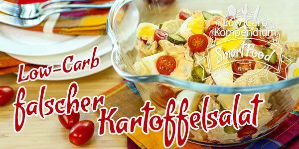 Low-Carb falscher Kartoffelsalat mit Ei - frisch & würzig