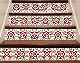 Autocollant de montage escalier bandes de vinyle, 10 étapes, bandes de vinyle amovible autocollant Peel & Stick - modèle VV1