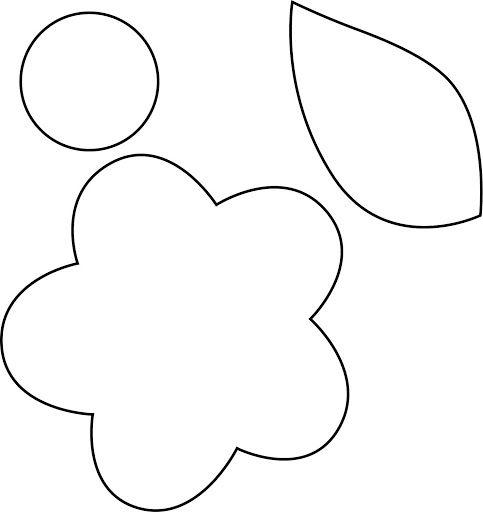Desenho de Flores para Recortar