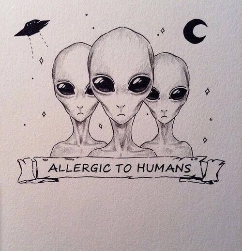 Imagem de alien, art, and humans