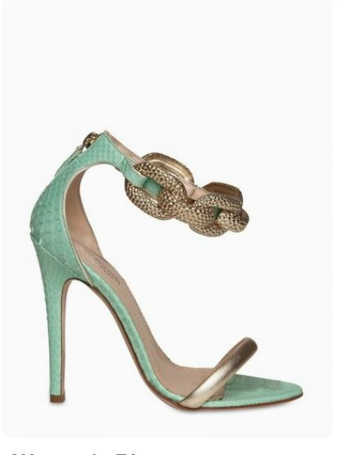 -GIAMBATTISTA VALLI 120mm Python & Chain Sandals.