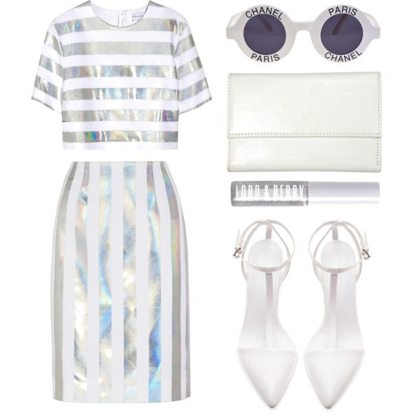 """Look 15 - Hologram Madness"" by splashthestyle on Polyvore polyvore, fashion set, fashion, ootd, collage, minimal, outfit"