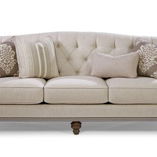 Paula Deen Home Collection by Craftmaster Furniture. Blend Down Sofa with tufting and ribbon detail  sc 1 st  Pinterest : paula deen sectional - Sectionals, Sofas & Couches