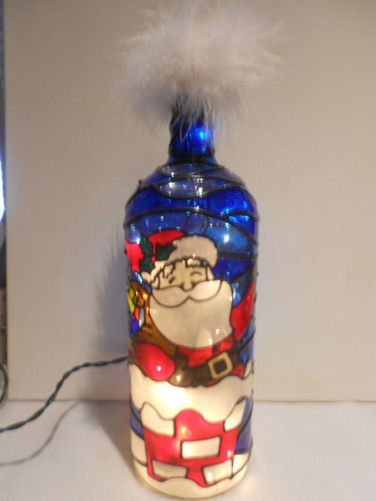 91 best lighted wine bottle images on pinterest lighted for Santa glasses for crafts