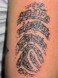 Resultado de imagen de huella digital tattoo