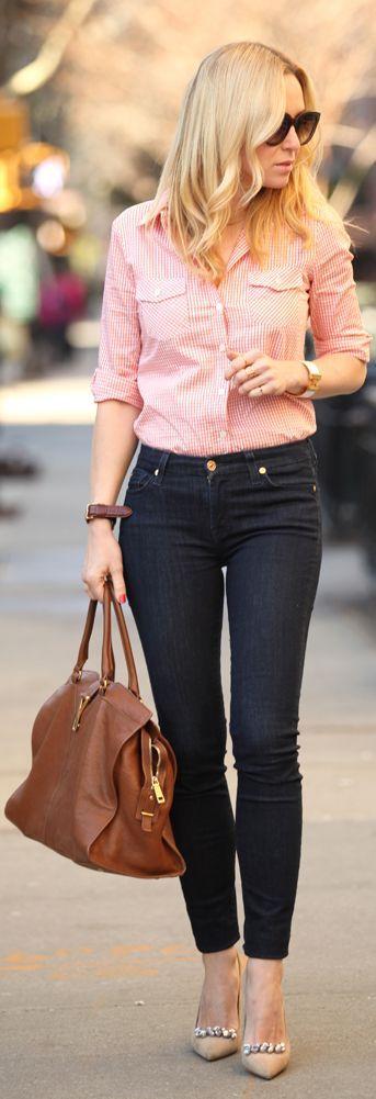 36 - TJ Maxx Red Pinstripe Shirt by Brooklyn Blonde
