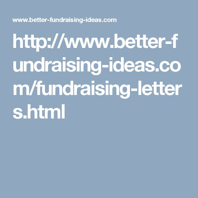 Best 25+ Fundraising Letter Ideas On Pinterest | Fundraising, Non
