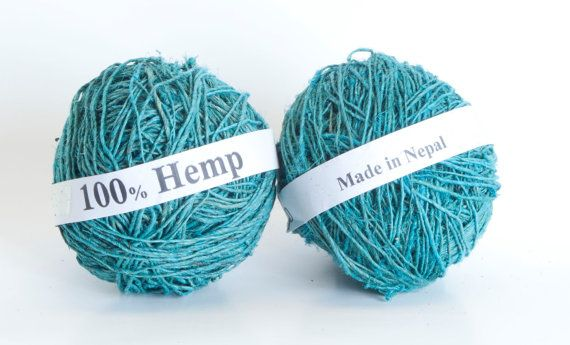 Hemp Yarn in Assorted Colors by PenandHook on Etsy