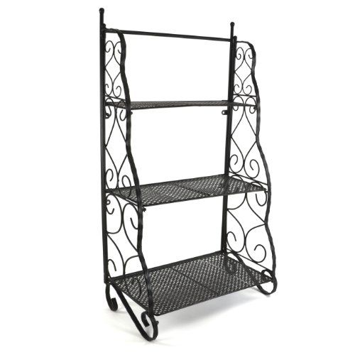 From 49.99 Plant Theatre Herb And Flower Stage Metal Traditional Design - Black
