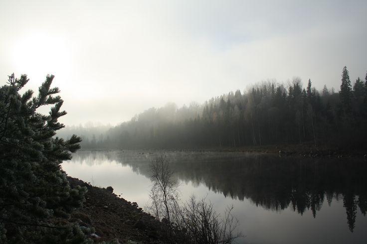 Sunrise, fog and Ångermanälven