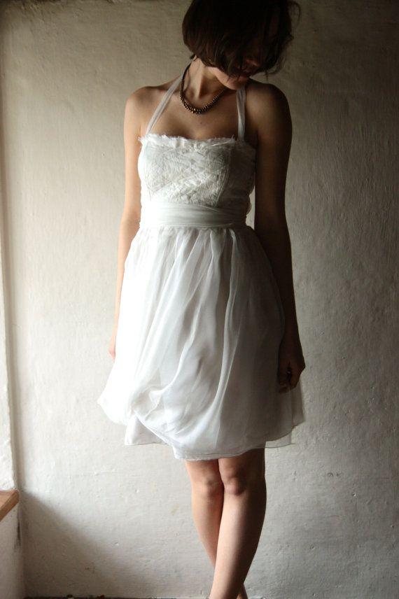 Short Wedding dress, fairy wedding dress, alternative wedding dress, reception dress, hippie wedding dress, simple wedding dress, bohemian