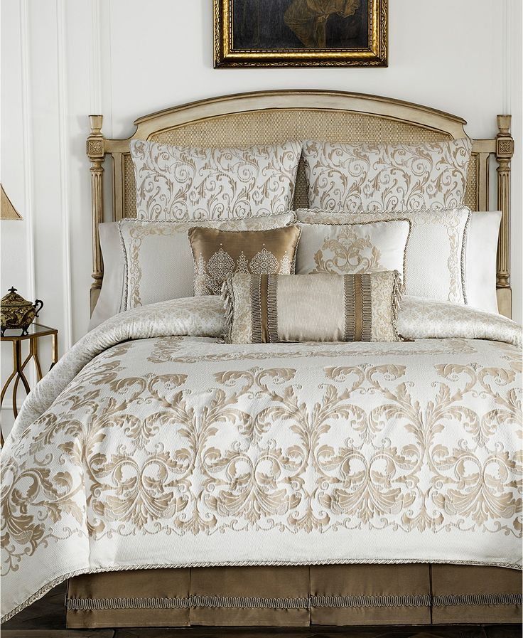 Croscill Monroe Ivory California King Comforter Set Macys Com Comforter Sets Bed Comforter Sets Luxury Bedding Sets