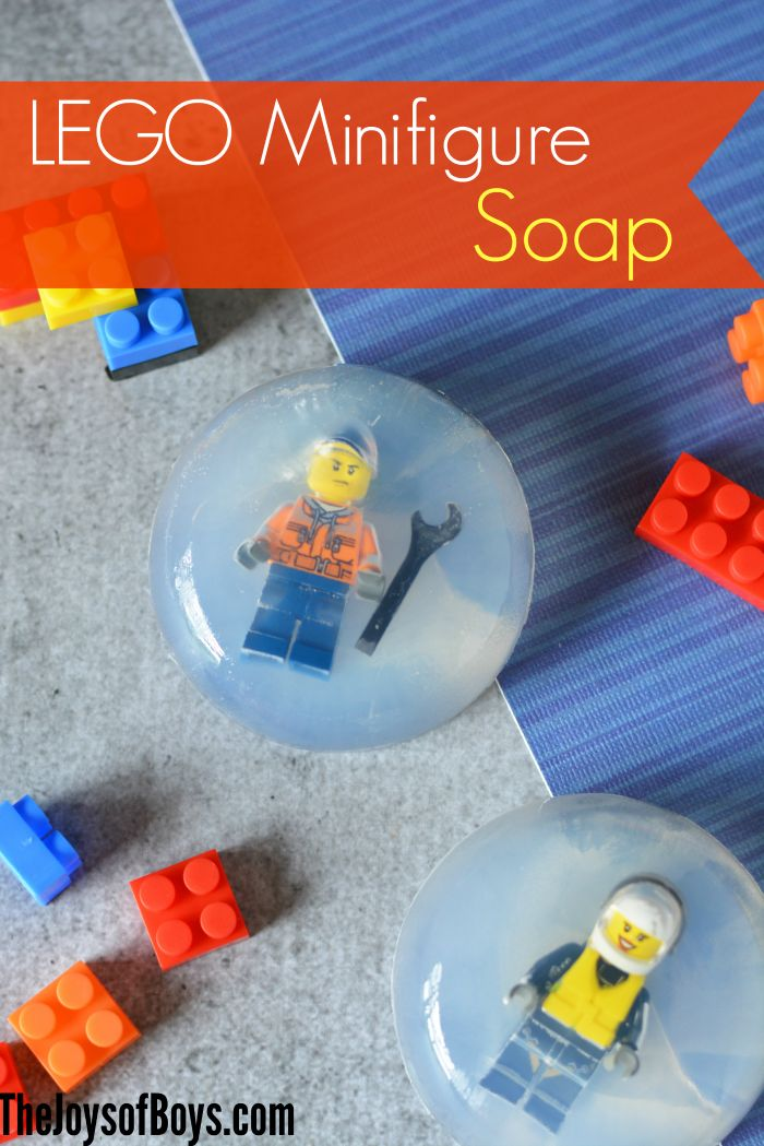 """It can be so hard to get my boys to want to wash their hands or scrub with soap!  This LEGO minifigure soap is so fun and might just be the """"encouragement"""" they need!"""