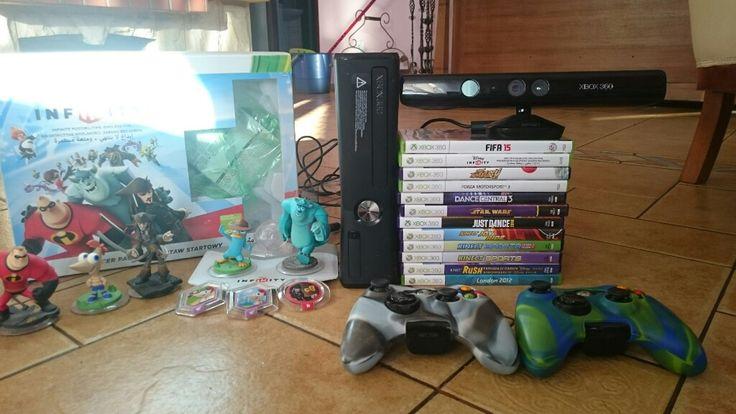 Xbox 360 kinect 12gier 2pad disney infinity
