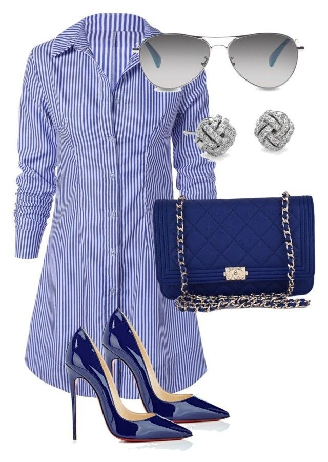 """Untitled #127"" by candicegeorge on Polyvore featuring Chanel, Christian Louboutin, Blue Nile and TOMS"