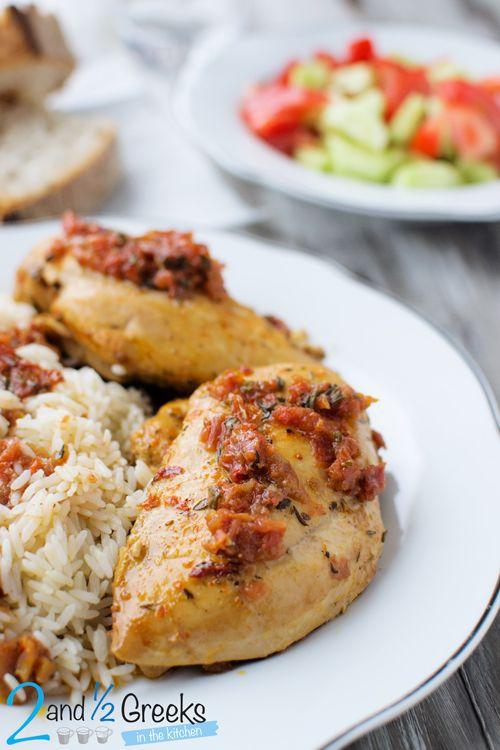 Στήθος κοτόπουλο ψητό σε μαρινάδα λιαστής ντομάτας - Craftaholic