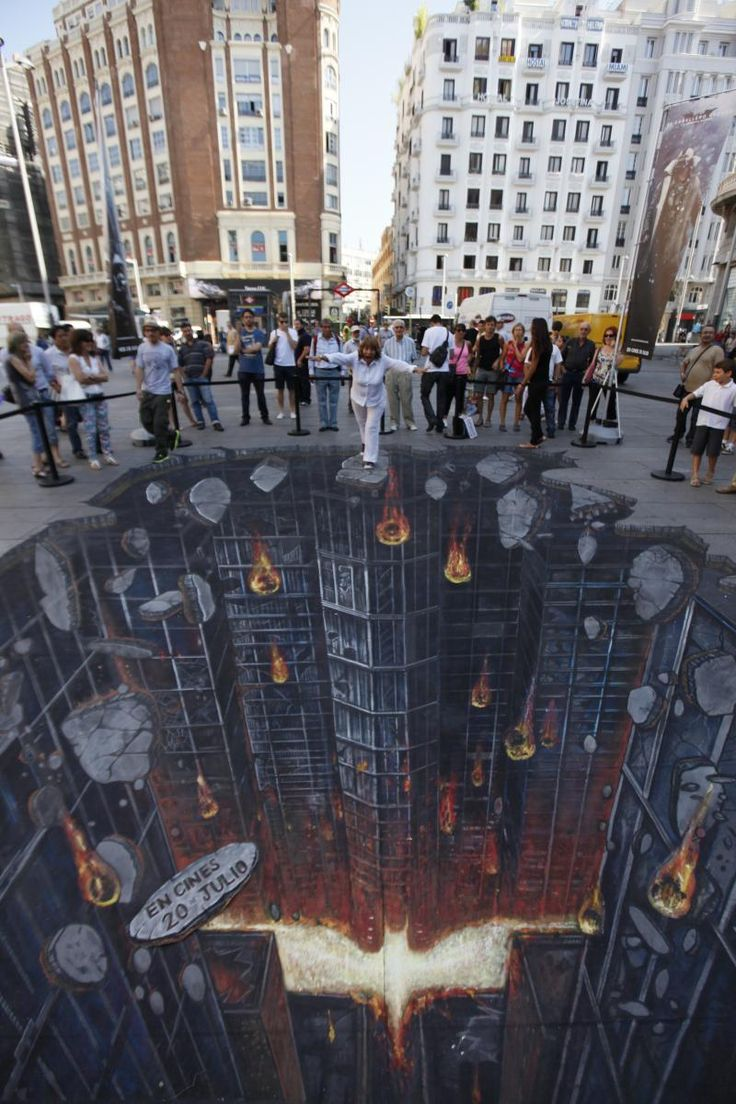 The Dark Knight Rises street art in Madrid