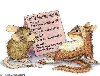 """The Quick Fix"" from House-Mouse Designs®. This image was recently purchased on a rubber stamp. Click on the image to see it on a bunch of other really ""Mice"" products."