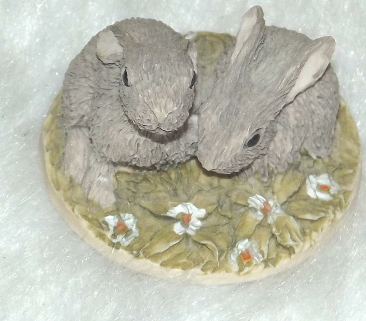Vintage miniature rabbits 1980's-Vintage 1980's miniature rabbit ornaments by BunkysVintageCrafts on Etsy